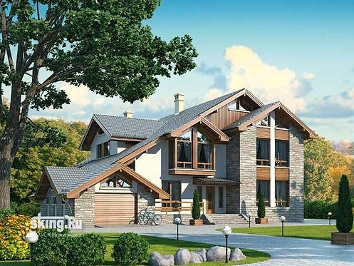 456 м2 проект дома в стиле шале проект
