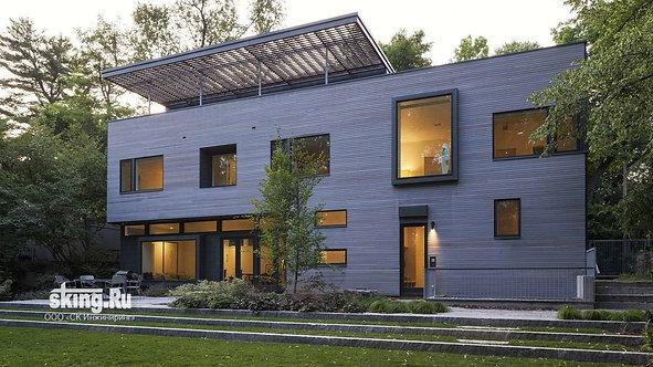 326 м2 Проект дома в стиле хай тек