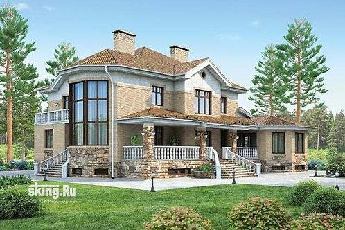 700 м2 Проект дома в английском стиле
