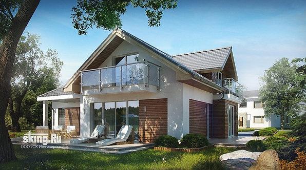 268 м2 проект дома в стиле шале проект