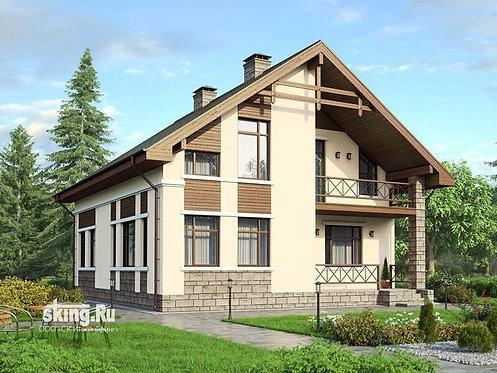 211 м2 Проект дома в стиле шале