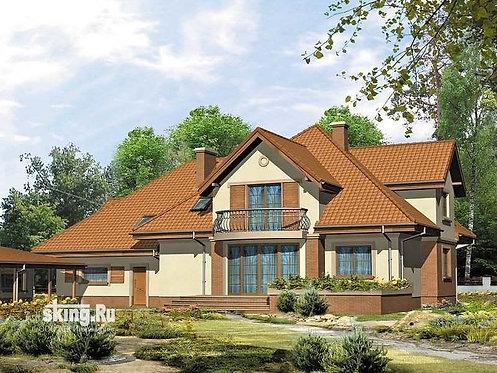 435 м2 Проект дома в стиле кантри