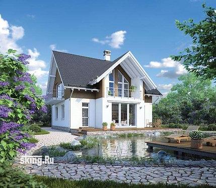 218 м2 Проект дома в стиле кантри