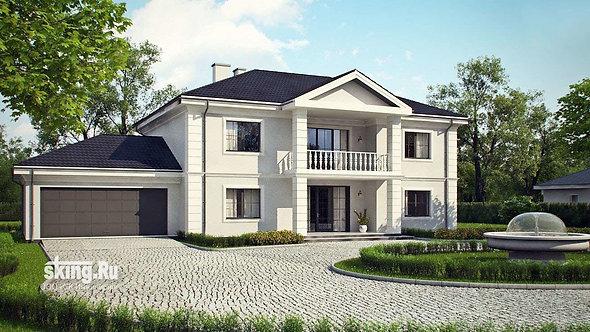 411 м2 Проект дома в современном стиле