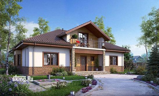 244 м2 Проект дома в стиле кантри