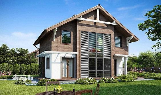 150 м2 Проект дома модерн в стиле шале