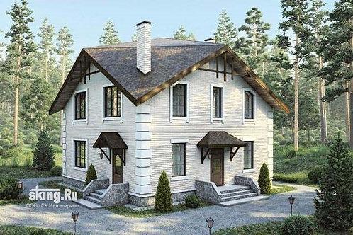 163 м2 Проект двухэтажного дома с мансардой