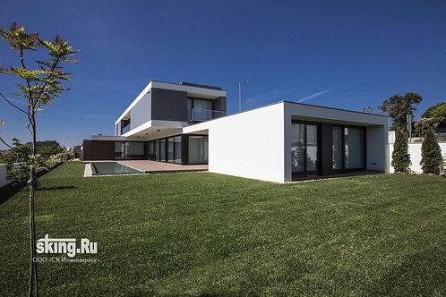 494 м2 Проект дома в стиле хай тек