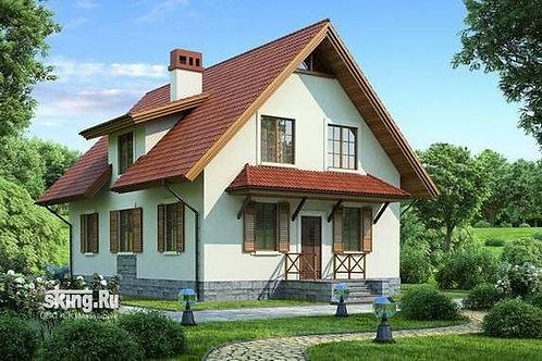160 м2 Дом шале с мансардным этажом