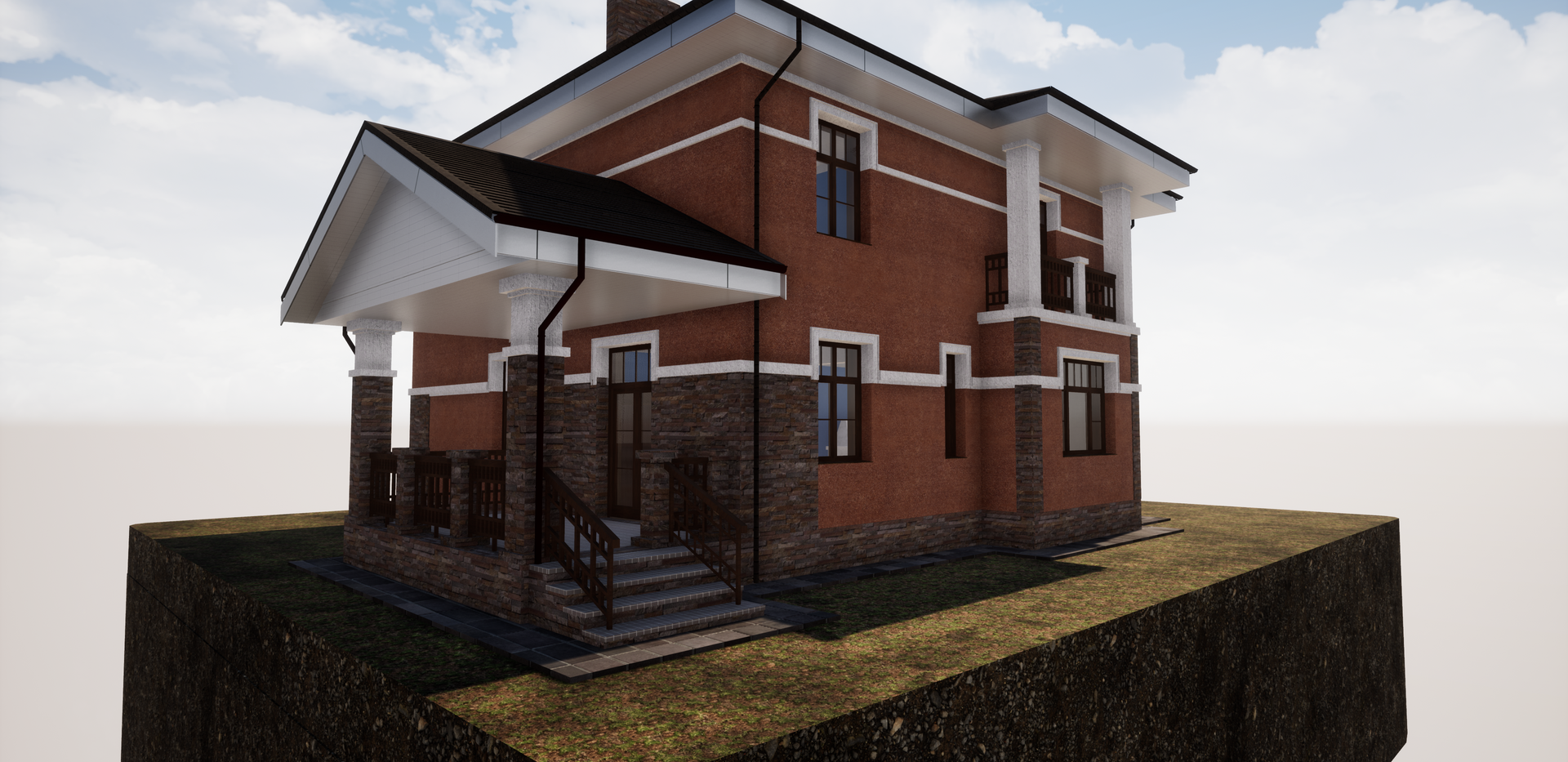 Проект кирпичного дома 235 - 1.png