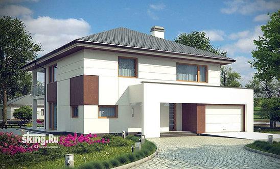 263 м2 Проект дома в современном стиле