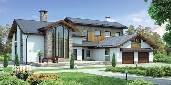 476 м2 Проект дома в английском стиле