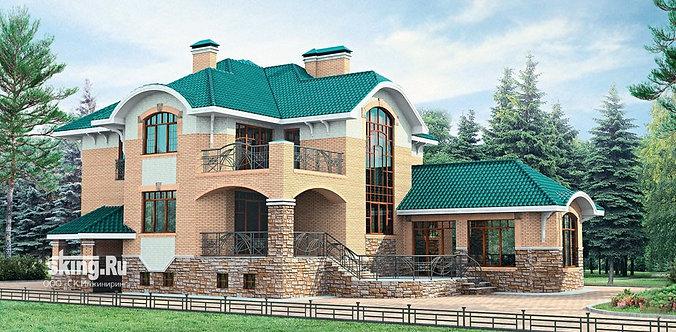 380 м2 Проект дома в современном европейском стиле