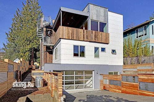 325 м2 Проект дома в стиле хай тек