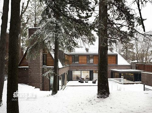 306 м2 Проект дома в скандинавском стиле