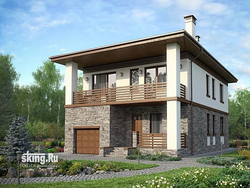 204 m2 project of the house in a present day style