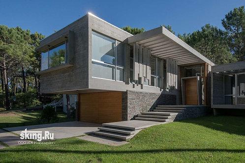 311 м2 Проект дома в стиле хай тек