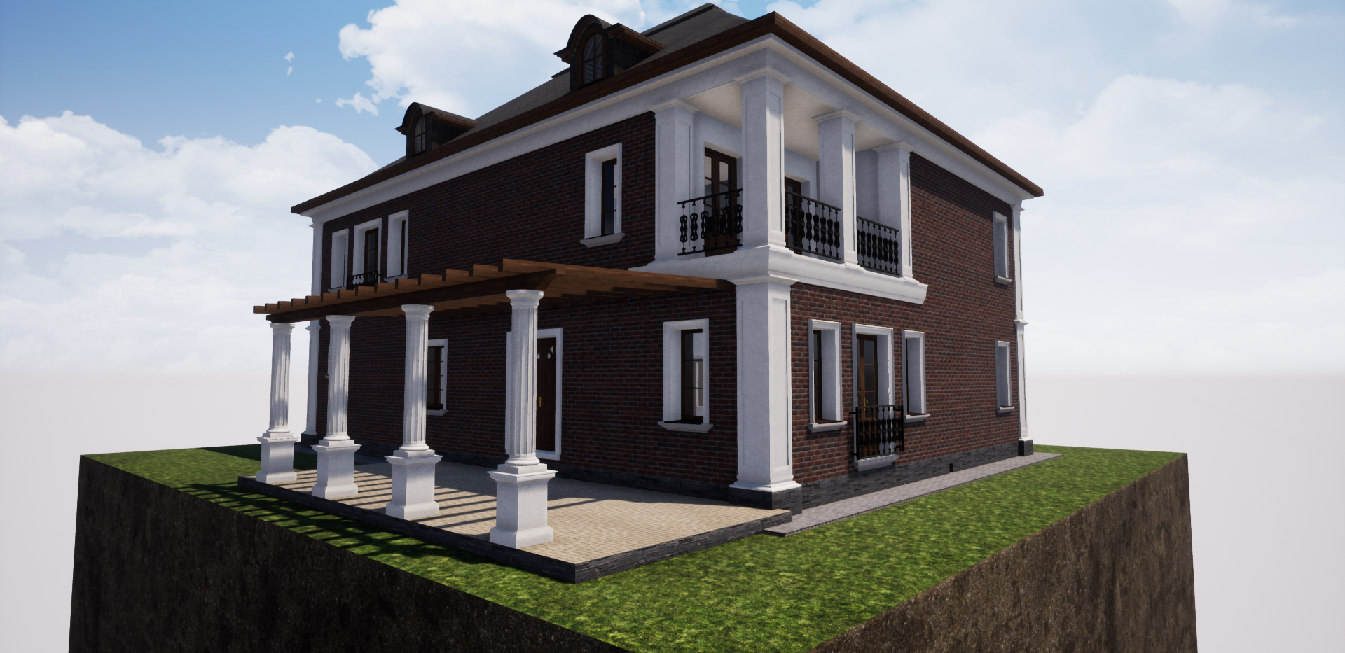 Проект двухэтажного кирпичного дома 310