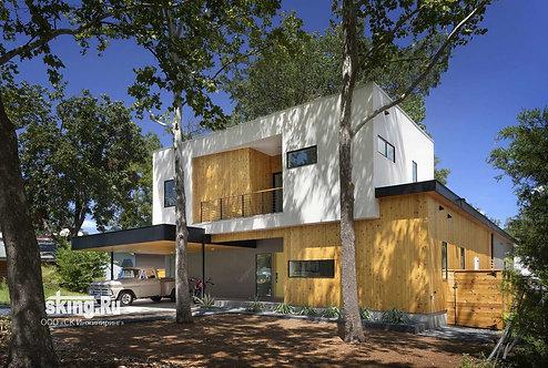 313 м2 Проект дома в стиле хай тек