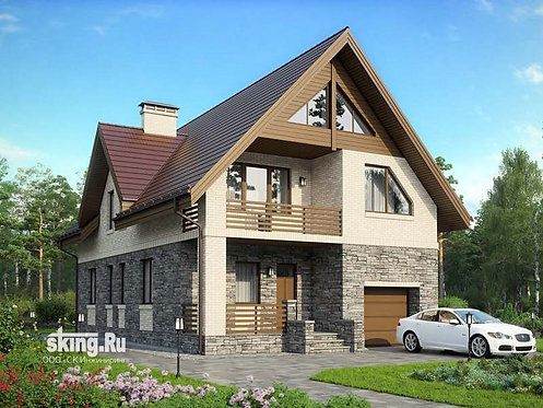 243 м2 Проект дома в стиле шале проект