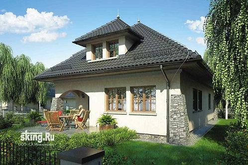 241 м2 Проект дома в стиле кантри