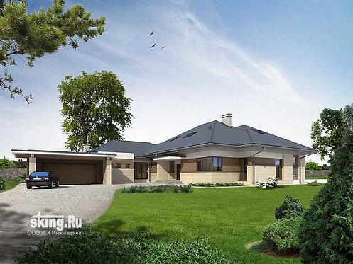 382 м2 Проект дома в стиле райта