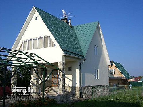202 м2 Проект дома в стиле кантри