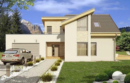 307 м2 Проект дома в современном стиле минимализм