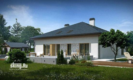 301 м2 Проект дома в стиле кантри + конструктивизм