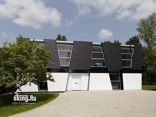 299 м2 Проект дома в стиле хай тек деконструктивизм
