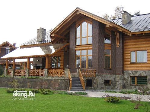 820 м2 Проект дома в стиле шале