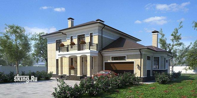 327 м2 Проект дома в современном стиле