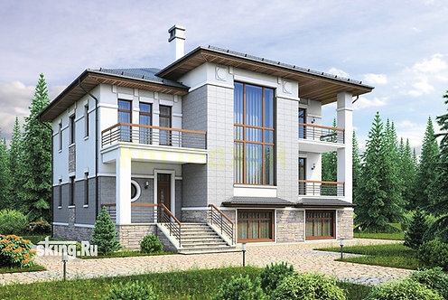 405 м2 Проект дома в современном стиле