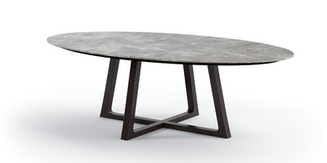 CORVUS PORCELAIN OVAL DINING TABLE