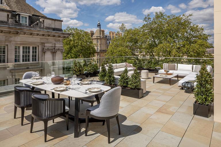 Regent's Crescent penthouse terrace_image credit Jonathan Bond_styling by Millier London a