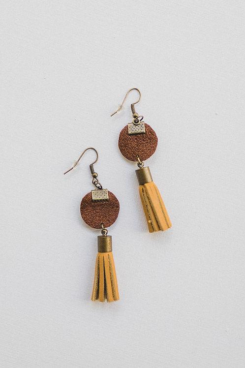 Katrina leather earrings