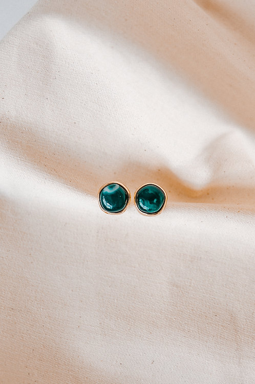Mia Lee Emerald Green Buttons