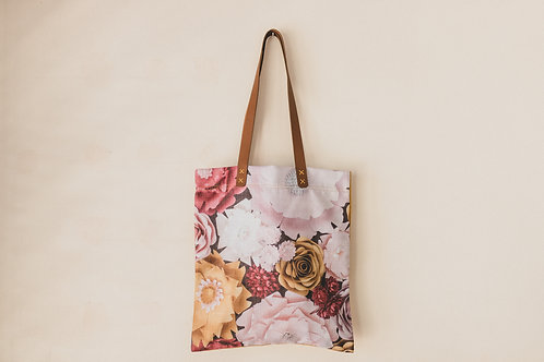 Paper Envy printed deco weave with genuine leather straps