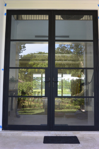 Exterior Alum Frame Door with Impact Glass
