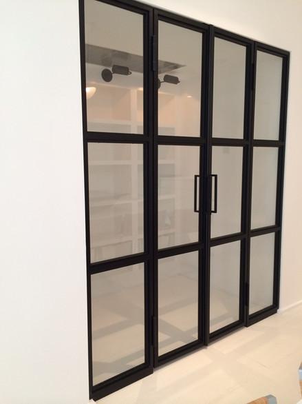 Custom Made Alum.Door with Impact Glass