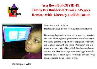 Week 4 - Dominique Taylor