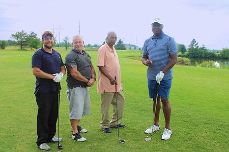 Blue Stripe Shirt and Team - 5th Golf.JP