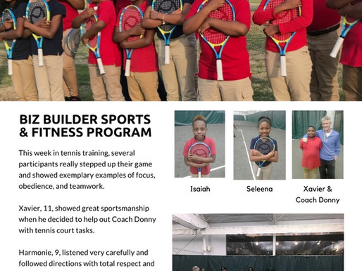 Biz Builder Tennis + NetGeneration Encourages Tunica Youth To Step Up Their Game