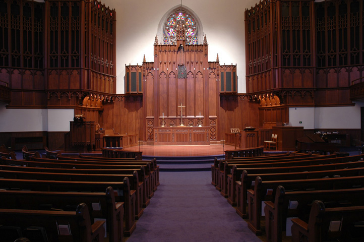 Altar at Court Street UMC