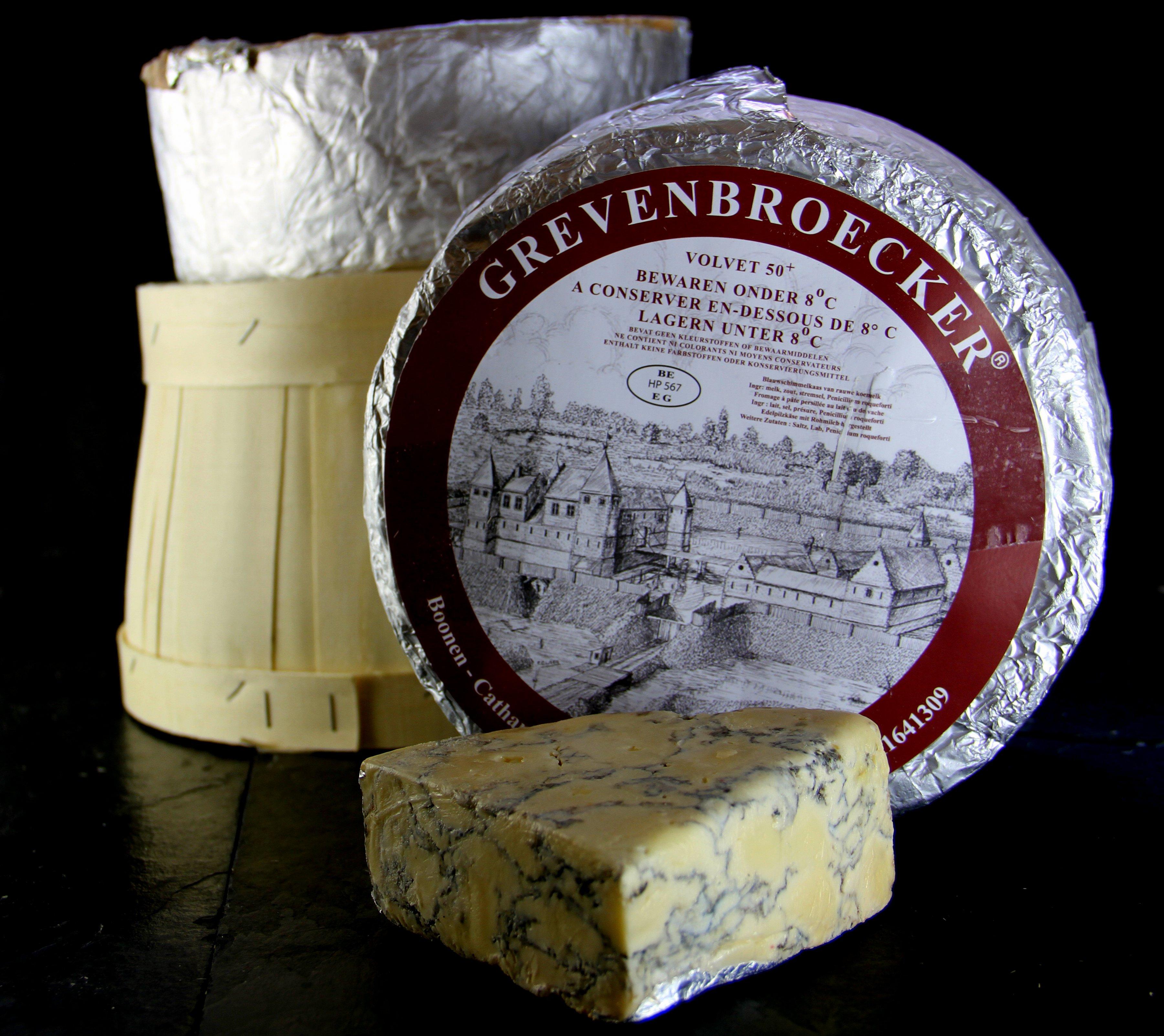 Grevenbroecker, Belgium stackedcurd blue cheese