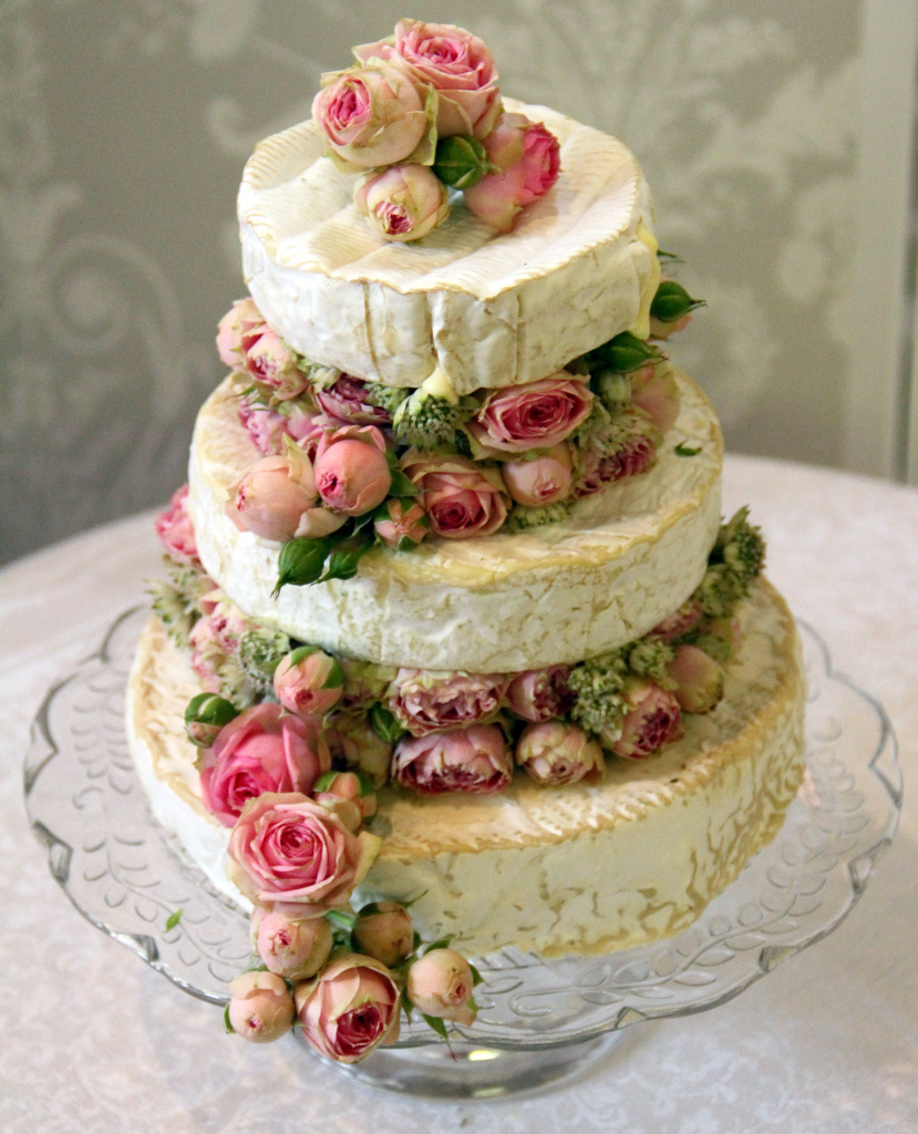 Brie wedding cake