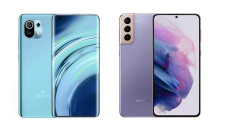 Samsung Galaxy S21 vs Xiaomi Mi 11: la guerra de la gama alta