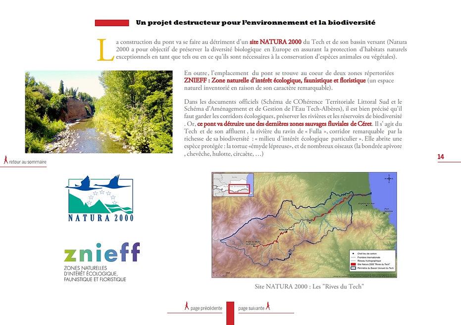 Environnement pont ceret protection biodiversité non bien vivre en vallespir