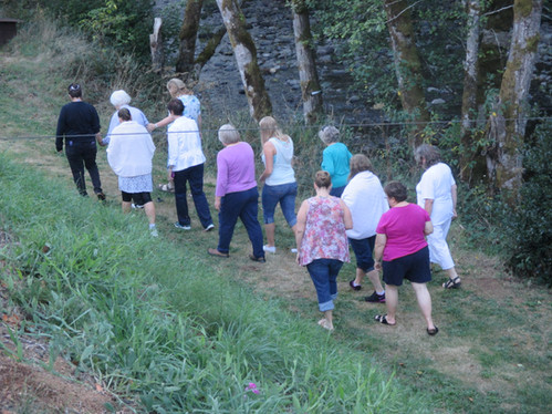 Heading to the baptism at the Retreat