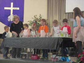 Children's Church Program in front of Congregation